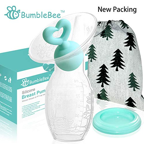 Bumblebee Manual Breast Pump with Breastfeeding Milk Saver Stopper& lid in Gift Box Food Grade...
