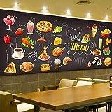 Afashiony Fototapete kuchen eis kaffee trinken küche cafe burger shop hd kunstdruck poster bild design 3d wandbild tapete für wohnzimmer Non-Woven-Material wasserdicht-350cmx250cm