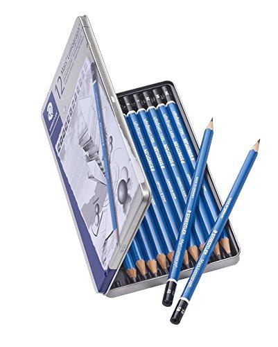 ステッドラー鉛筆ルモグラフ製図用12硬度セット缶ケース100G12
