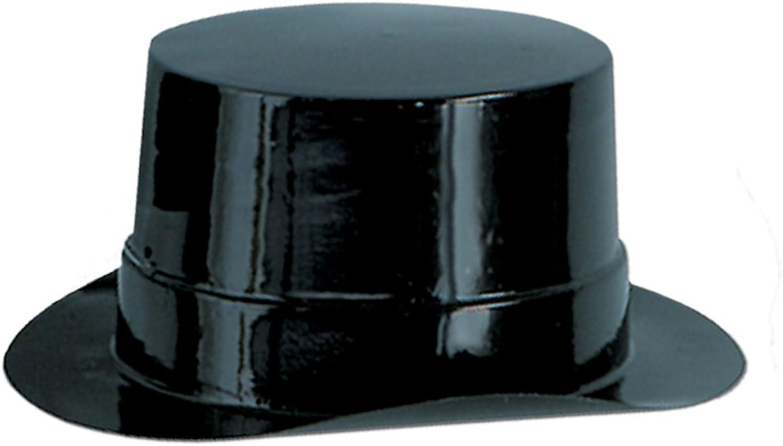 Beistle 66620-BK - Miniature Black Plastic Topper - Pack of 48