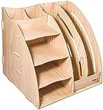 GJSN Multifunktions-Aktenschrank Für Die Büroablage - Aktenhalter Mehrschichtiger Aktenhalter Aus Holz Starke Kollisionsändigkeit Langlebige Kunststoffe Standardschreibtische Obere Schubladen