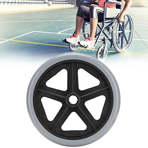 Rueda de repuesto para sillas de ruedas, Ruedas para sillas de ruedas eléctricas Accesorio para silla de ruedas resistente al desgaste Accesorio para caminante, 1 paquete(8 pulgadas)