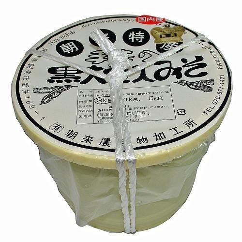 【おばあちゃんの手作り】黒大豆入りみそ(4K)桶