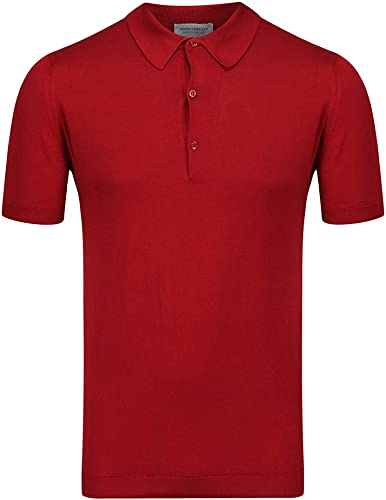 John Smedley Adrian Polo Shirt grand Anther rouge