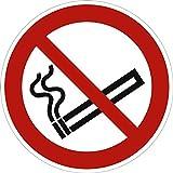Pegatinas prohibido fumar 10 cm de diámetro de acuerdo con la norma ISO 7010, P002