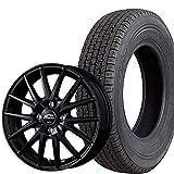 ブリヂストン スタッドレス タイヤ・アルミホイール 4本セット W300 145R12 6PR シュナイダーSQ27 ブラック