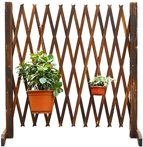 Unbne Expanding Wooden Garden Wall Fence Panel Plant Climb Trellis Partition Decorative Garden Fence for Home Yard Garden Decoration,90cm