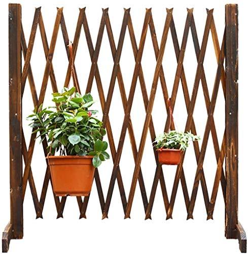 Unbne Expanding Wooden Garden Wall Fence Panel Plant Climb Trellis Partition Decorative Garden Fence for Home Yard Garden Decoration,90cm
