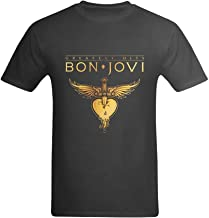 LittleArt Men's Bon Jovi Rock Band Logo T-Shirt
