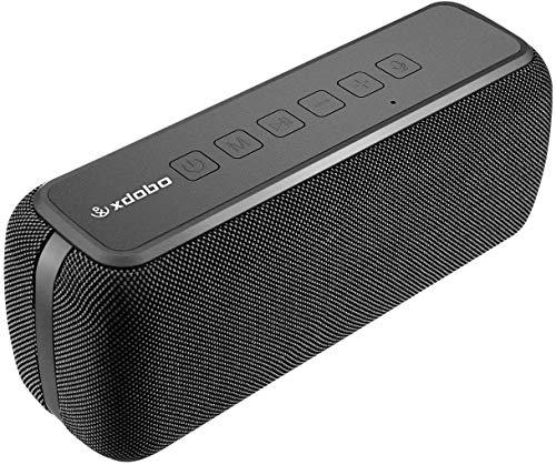 XDOBO 60W Wireless Lautsprecher Bluetooth 5.0 IPX5 wasserdichte 8-Stunden-Spielzeit TWS-tragbare Lautsprecher mit Zwei Treibern und Voice Assistant-Extra-Bass-Subwoofer für Bar-Heimkino im Freien