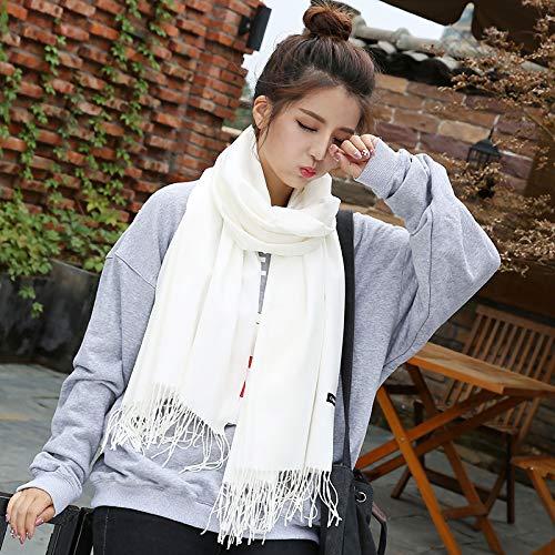 mlpnko Einfarbiger Schal aus Kaschmirimitat in Damenmode. Beidseitig gebürsteter Klimaanlage-Latz