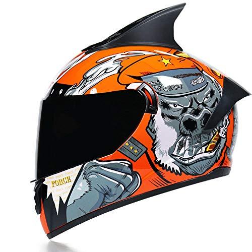 BUETR Casco de moto todoterreno bicicleta de montaña casco