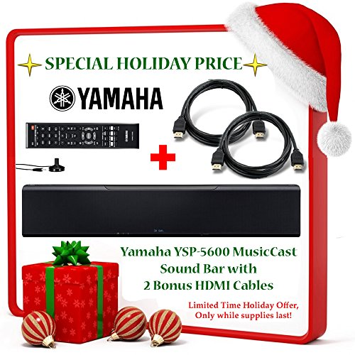 Black Friday Deal Brand New! Yamaha YSP-5600 MusicCast Sound Bar w/ Dolby Atmos and DTS:X + 2 Bonus HDMI Cables!