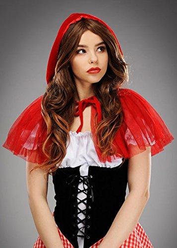 Adulte court Net Red Riding Hood Cap
