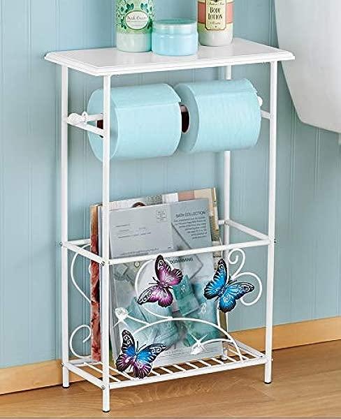 蝴蝶洗澡浴室厕纸架置物架桌子杂志整理架
