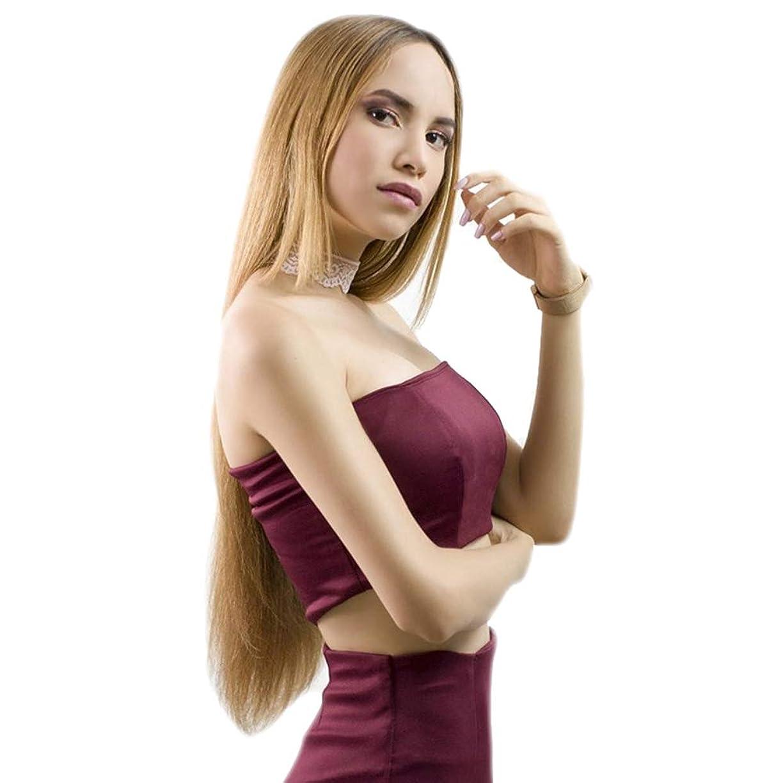 受け継ぐ葉っぱ刃女性用ウィッグ、ファッションフロントレースロングストレートウィッグ、パーティーロールプレイ16-26インチウィッグ