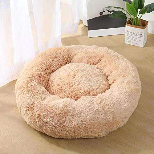 MYYXGS Haustierbett Hundebett Katzenbett Rund Donut Kissen 40Cm