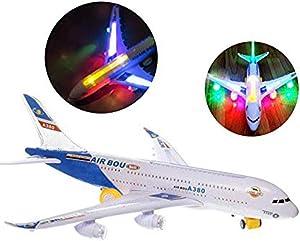 Modèle de Jouet Airbus Airbus A380, Avion électrique Boeing Airbus avec Son léger Jouet électrique Jouet avec lumières Jouets pour Enfants