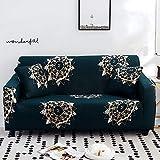 WXQY Fundas elásticas Funda de sofá elástica con protección para Mascotas Funda de sofá con Esquina en Forma de L Funda de sofá con Todo Incluido A24 4 plazas