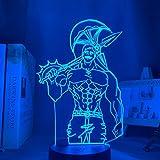 Lámpara de noche de acrílico anime los siete pecados mortales Escanor luz para la cama decoración de la habitación luz nocturna niños lámpara de mesa Escanor regalo