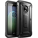 SUPCASE Full-Body Rugged Holster Case Cover for Moto G5 Plus, with Built-in Screen Protector for Moto G5 Plus 2017 Release, Unicorn Beetle PRO Series (Black)