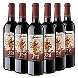 Don Luciano Tempranillo, Vino Tinto D.O La Mancha - Pack de 6 Botellas x 750 ml