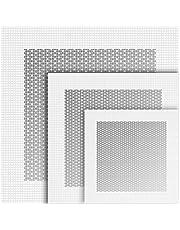 6 Parches de Reparación de Pared de Aluminio Autoadhesivo, Malla de Fibra de 4/6/ 8 Pulgadas sobre Placa Galvanizada, Parche de Reparación de Orificios de Pared Seca para Trabajo Pesado para Yeso