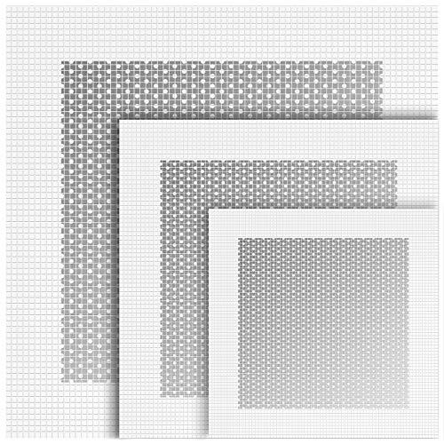 6 Stücke Aluminium Wand Reparatur Patch Selbstklebend, 4/6/8 Zoll Faser Netz über Verzinkter Platte, Hochleistung Trocken Wand Loch Reparatur Pflaster für Trockenbau Gipskarton