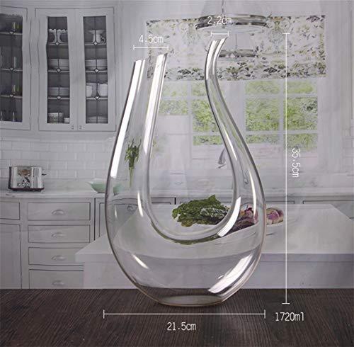 CHUANGJIE Creatieve U-vormige karaf Loodvrije kristallen glas Decanter Rode wijnseparator 1