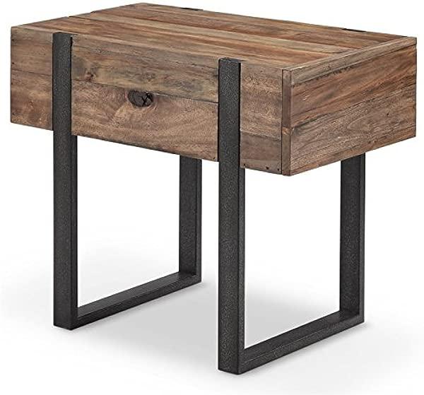Magnussen Prescott Modern Chairside End Table In Rustic Honey