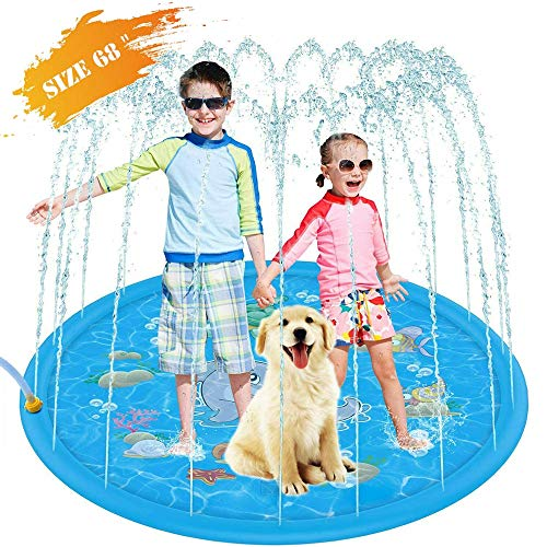 Inflatable Splash Sprinkler Pad for Kids, Kiddie Baby Pool,68' Outdoor Water Mat Toys - Baby Infant...