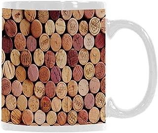 Wine Trend Mug,Random Selection of Used Wine Corks Vintage Quality Gourmet Taste Liquor for Office Travel,3