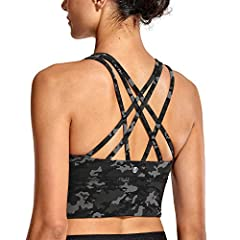 Stylish Strappy back helps you move with ease. Removable pads,longline design offers the stability and comfort. Made of smooth, breathable, high performance quick drying fabric. Medium support for yoga, Pilates, fitness etc., or as the everyday bra. ...