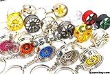 boost-key.com Schlüsselanhänger aus Metall Felge Auto BBS Vossen Chrom Anhänger Schlüsselring Lederband Leder von VmG-Store (BBS CHR Black Chrom)