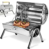 Deuba BBQ Grill Portable Folding Stainless Steel Griddle <span class='highlight'><span class='highlight'>Barbecue</span></span> Camping Garden Outdoor
