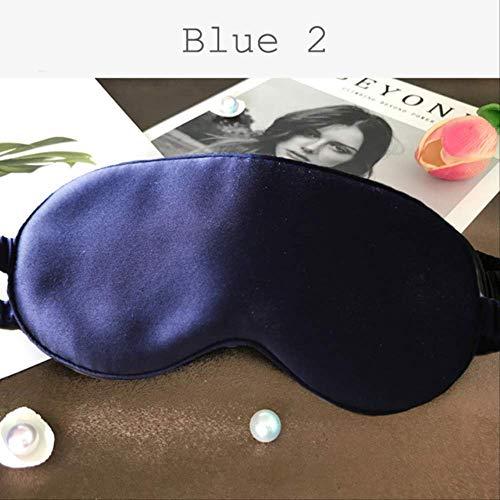 AINIYUE Máscara de Ojos para Dormir, Relleno Saco de Ojos para Dormir máscara de Ojos, Suave Descanso de Viaje Relajarse Parche de Ayuda para Dormir, para Hombres, Mujeres y niños Deep Blue