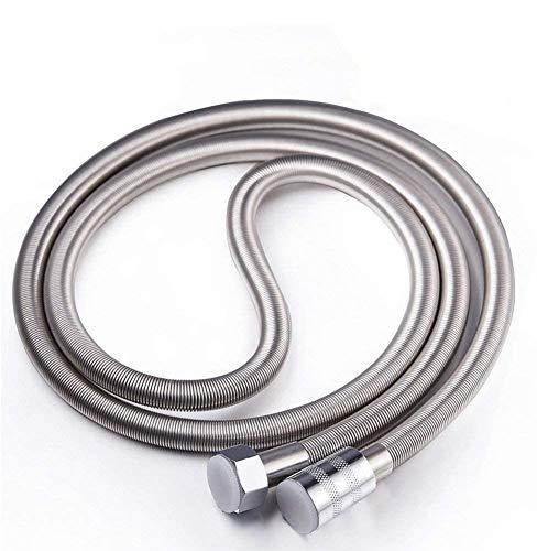 STARBATH - Tubo flessibile per doccia, in acciaio INOX, anti-nick, regolabile, 2,50 m, cromato
