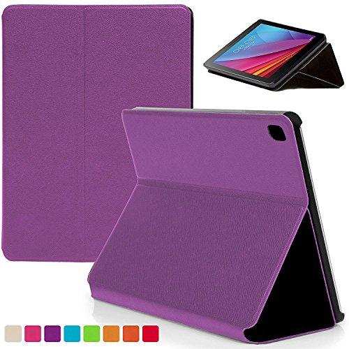 Forefront Cases® Huawei MediaPad T1 7.0 Plus / T1 7.0 / T2 7.0 Hülle Schutzhülle Tasche Bumper Folio Smart Case Cover Stand - Ultra Dünn mit R&um-Geräteschutz (VIOLETT)