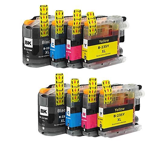 LC237 LC235 - Cartuchos de tinta para hermanos (repuesto de alto rendimiento, para MFC-J4420DW J4625DW J5320DW J4620DW J5620DW DCP-J4120DW, combinación de color negro, 2 unidades