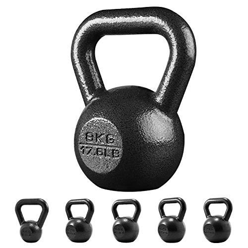 PROIRON Kettlebell ghisa Peso 8kg per Palestra Domestica Esercizi Fitness addestramento, potenziamento Muscolare (8kg)