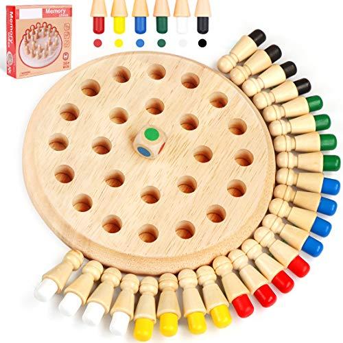 O-Kinee Memory Gioco per Bambini e Adulti, Giocattoli di Legno, Giochi Interattivi da Tavolo, Giocattoli Educativi Intelligenza e Regali per dai Bambini 3 Anni in su