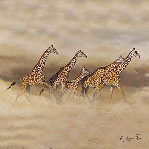 COUNTRY MATTERS Karen Lawrence Rowe Dessous de Verre Motif Girafe Running