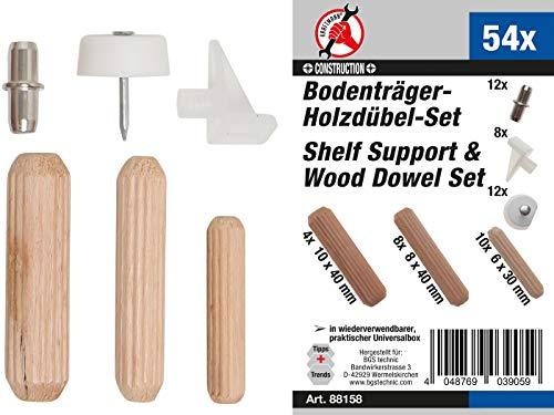 Kraftmann 88158 | plankdrager-/houten pluggen-assortiment | 54-delig