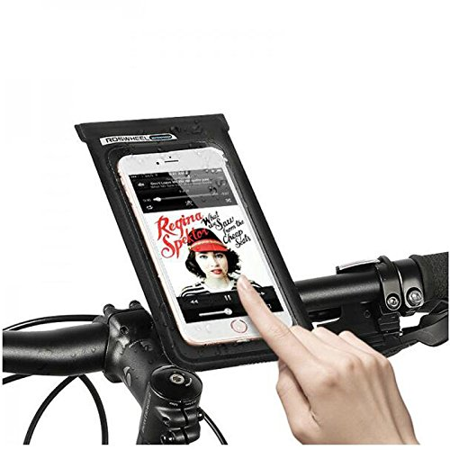 Fahrrad Lenkertasche, XPhonw Wasserdicht Ultra Thin Case/Tasche Fahrrad Phone Tasche Touch Bildschirm Fahrrad Handy Halterung für iPhone XS X 8 7 6S 6 Plus Samsung LG Sony Smartphones bis 6 Zoll