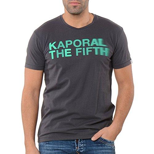 Kaporal - t-shirt - à logo - homme - Gris (Anthracite) - FR: Medium (Taille fabricant: M)