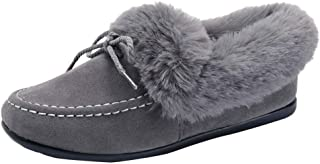 Creazrise Moccasin Slippers for Women Flat Casual Comfortable Loafer Shoes Womens Moccasin Slippers Spring Moccasins Shoes