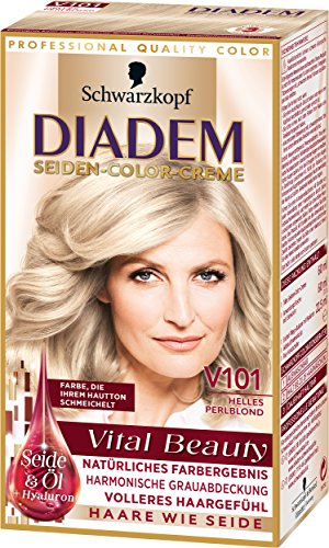 Diadem Seiden-Color-Creme V101 Helles Perlblond Vital Beauty, 3er Pack (3 x 142 ml)