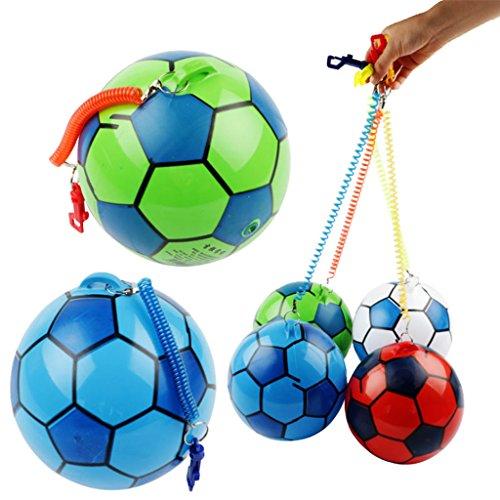Xuebai Neuer aufblasbarer Fußball mit Schnur Sport Kids Toy Ball Jonglierball Aufblasbarer Fußball im Freien mit Schnur