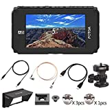 Fotga A50TL 5' FHD Video On-Camera Touch Screen Field Monitor,3D LUT,1920x1080 HDMI 4K Input/Output,Dual NP-F Battery Plate for Sony A9 A7III A7RIII Canon 5DIII IV 6D Paasonic GH5/4 Nikon D7500 D850