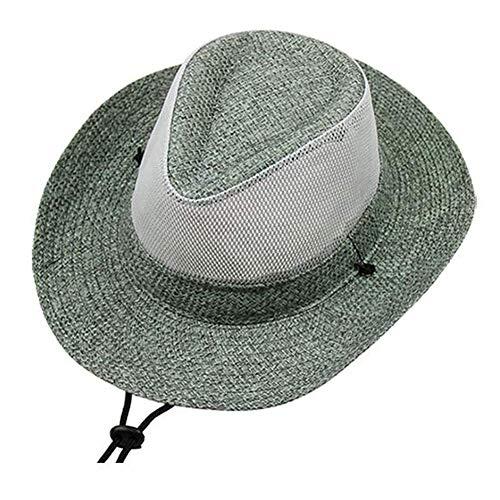 BGSFF Gorra de protección Solar al Aire Libre Playa Verano Sombra Sombrero Hombres Sombrero UPF 50 + Sombrero de Pesca Ciclismo Senderismo Jardín Caza (Color: Verde)